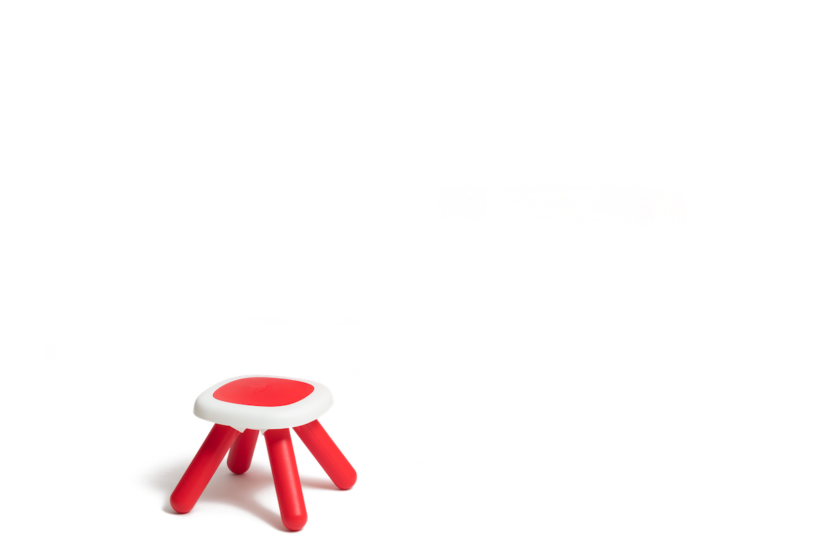 Kuhinja koja raste s djetetom s tekućom vodom i mikrovalnom Tefal Evolutive Gourment Smoby crvena s čarobnim mjehurićima, stolcem i 43 dodatka